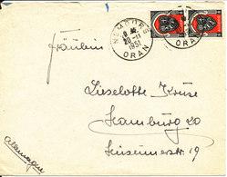 Algeria Cover Sent To Germany 20-11-1951 - Algeria (1962-...)