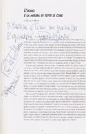 BROCHURE DELL EDIPO  DI SOFOCLE IN SCENA CON GLAUCO MAURI E ROBERTO STURNO (VEDI AUTOGRAFI) NEL 1995 - Autographs