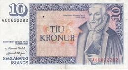 BILLETE DE ISLANDIA DE 10 KRONUR DEL AÑO 1961   (BANKNOTE) - Iceland