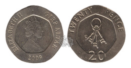 Gibraltar / 2009 / 20 Pence / KM: 1083 / VF - Gibraltar