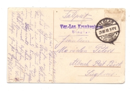5210 TROISDORF - SIEGLAR, Postgeschichte, Lazarett-Stempel 1918 - Troisdorf