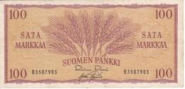 BILLETE DE FINLANDIA DE 100 MARKKAA DEL AÑO 1957  (BANKNOTE) - Finlandia