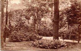 """Orig. Foto Ansichts-Karte """"Bitterfeld, Partie I.d. Binnengärten"""" Als Feldpost Gelaufen 13.8.15 BITTERFELD Nach WARSCHAU - Weltkrieg 1914-18"""