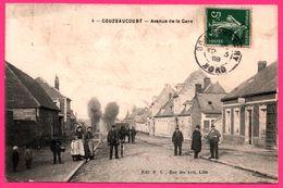 Gouzeaucourt - Avenue De La Gare - Enfant - Cheval De Trait - Attelage - Animée - Edit. P.L. - 1909 - Marcoing
