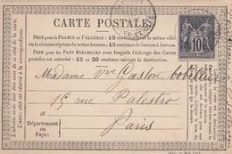 CARTE PRECURSEUR. 24 SEPT 78. SEINE-ET-OISE MEUDON. ECRITE DE BELLEVUE  POUR PARIS - 1877-1920: Periodo Semi Moderno