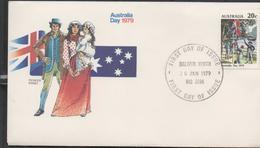 3298  FDCC Balwyn North 1979 , Australia Day , Pioneer Family - FDC