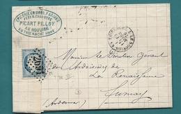 Aisne - Le Nouvion En Thierache Pour Fumay (Ardennes). GC + CàD Type 16. 1876 - 1849-1876: Période Classique