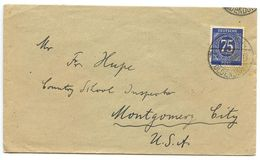 Germany 1940's Cover Hessisch Oldendorf To Montgomery, Alabama W/ Scott 553 - American,British And Russian Zone