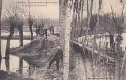 20w - 10 - Troyes - Aube - Inondations Du 22 Janvier 1910 - La Digue De Foicy Rompue - J. Marquis N° 28 - Troyes