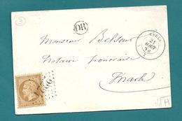 Aisne - Marle. 3 Documents. 3 Emissions Différentes - 1849-1876: Période Classique
