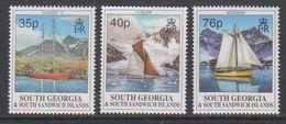 South Georgia 1995 Yachts 3v ** Mnh (39452) - Zuid-Georgia