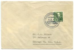 Sweden 1947 Cover Stockholm To U.S. W/ Scott 385 & Bilpostkontoret Postmark - Suède