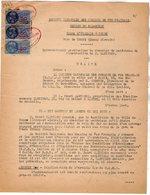 VP12.716 - PARIS - Acte De 1943 - Entre La S.N.C.F Ligne D'ORLEANS à TOURS - Gare De TOURS & Mr H.MARTINON à NANTES - Chemin De Fer