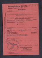 Guerre 39-45 Ausweis Laissez Passer Ouest René Mathieu Staatsbeamter  De Paris à Nancy Prefecture Garonne 1942 - 1939-45