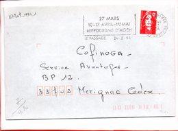 LOT ET GARONNE, Le Passage, Flamme à Texte, 27 Mars, 10-17 Avril, 1er Mai Hippodrome D'Agen - Postmark Collection (Covers)