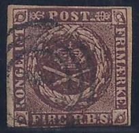 DINAMARCA 1851/54 - Yvert #2 - VFU - 1851-63 (Frederik VII)