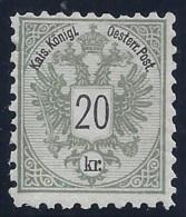 AUSTRIA 1883 - Yvert #44 - MNH ** - Neufs