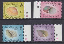 South Georgia 1988 Shells 4v ** Mnh (39452D) - Zuid-Georgia