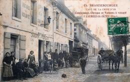 France - 60 - Estrées-st.-Denis - Café De La Croix D' Or - Camionage - Chevaux Et Voitures à Volonté - Estrees Saint Denis
