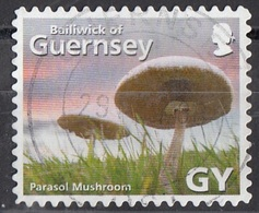 Guernsey 2007 Sc. 925e Mushrooms Funghi Champignons Parasol Mushroom Fungo Parasole Macrolepiota Procera  Micologia - Funghi