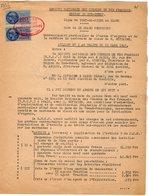 VP12.718  PARIS - Acte De 1952 - Entre La S.N.C.F Ligne De PORT DE PILES X BLANC - Gare De LE GRAND PRESSIGNY & MITTAINE - Chemin De Fer