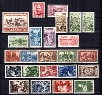 Sarre Belle Collection Neufs ** MNH 1949/1954. Bonnes Valeurs. TB. A Saisir! - 1947-56 Occupation Alliée