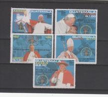 V] Série Complete Set  ** Visite Du Pape Jean-Paul II Guatatemala  John-Paul II Visit - Guatemala