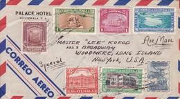 SOBRE ENVELOPE GUATEMALA CON BUZON CIRCULEE TO USA YEAR 1941 AIRMAIL PALACE HOTEL MIXED STAMPS - BLEUP - Guatemala