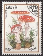 Laos 1985 Sc. 627 Mushrooms Funghi Champignons : AMANITA MUSCARIA  Micologia Lao CTO - Funghi