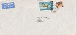 Kenya Cover Sent Air Mail To Denmark 26-9-1970 - Kenya (1963-...)