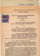 VP12.719 PARIS 2 Actes & Plan 1952 Entre La S.N.C.F- Ligne D'ORLEANS à TOURS Gare D'ONZAIN & La Société Agricole à BLOIS - Chemin De Fer