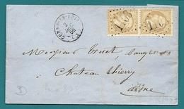 Aisne - Condé En Brie Pour Chateau Thierry. GC 1103 + CàD Type 15 - 1849-1876: Période Classique