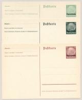 Luxemburg - 1940 - 3x Ganzsache Deutsche Besetzung - Hindenburg Mit Luxemburg Aufdruck - Not Used - Postwaardestukken