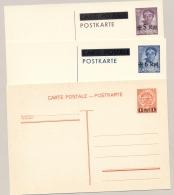 Luxemburg - 1940 - 3x Ganzsache Deutsche Besetzung - Aufdruck Neuer Wert - Not Used - Postwaardestukken