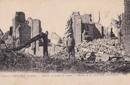 SAILLY SAILLISEL MAIRIE ET ECOLE EN RUINES (dil384) - France