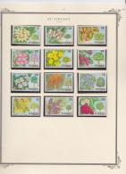 St  Vincent     .             Page  With Stamps    ,    *     .    Mint-hinged   .  /   .  Ongebruikt - St.Vincent (1979-...)