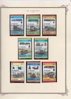 St  Vincent     .           Page With Stamps    ,    **     .    MNH   .  /   .   Postfris - St.Vincent (1979-...)