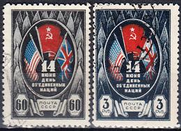 USSR 1944 United Nations Day MiNr 909-10 - Usati