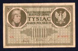 Banconota Polonia 1000 Marek (circolata) 17/5/1919 - Polonia