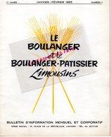 87-LIMOGES-BULLETIN  INFORMATION LE BOULANGER ET PATISSIER LIMOUSINS-BOULANGERIE PATISSERIE- N° 1- 1965-MINOTERIE MAZIN- - Cooking & Wines