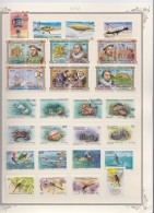 St  Vincent & Grenadines     .           Page With Stamps    .    O And   **     .   Cancelled And MNH - St.-Vincent En De Grenadines