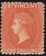 St  Vincent     .       SG    .    45      ,       Mint-hinged   .  /   .   Ongebruikt Met Plakker - St.Vincent (...-1979)