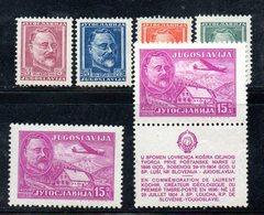 YUG66C - YUGOSLAVIA 1948,  Unificato N. 498/501 + AEREA  Nuovi  * - Nuovi
