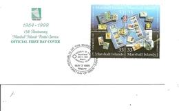 Timbres Sur Timbres ( FDC Des Marshall De 1999 à Voir) - Briefmarken Auf Briefmarken