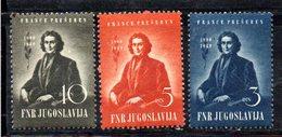 YUG66D - YUGOSLAVIA 1949,  Unificato N. 512/514  Nuovi  *** - 1945-1992 Repubblica Socialista Federale Di Jugoslavia