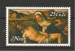NIUE - 1980 GIOVANNI BELLINI Pietà Martinengo (Gallerie Accademia, Venezia) 25c + 2c Nuovo** MNH - Religione