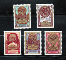 Arms Of USSR MNH 1972 Complete Set Of 5 Russia Sc 4018-4022 Mi 4053-4057 - Stamps