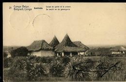 Carte Obl. N° 42 Vue 21: Kabinda: Corps De Garde  Et La Prison --- Obl. Boma En Bleu  28/08/1913 - Ganzsachen