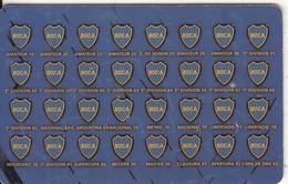 ARGENTINA(chip) - C.A.Boca Juniors, Telefonica Telecard((F 95), 01/98, Used - Argentina