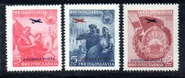 YUG67C - YUGOSLAVIA 1949,  POSTA AEREA Unificato N. 24/26  Nuovi  * - Poste Aérienne